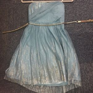 Dresses & Skirts - Teal and gold homecoming/ formal dress